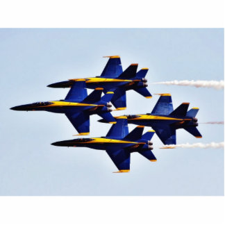 Aeroplanos de los ángeles azules fotoescultura vertical