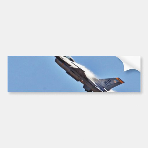 Aeroplanos de los combatientes de jets de los F-16 Pegatina De Parachoque