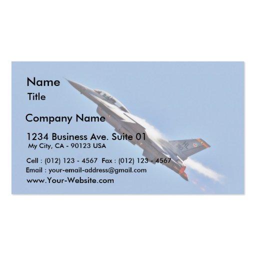 Aeroplanos de los combatientes de jets de los F-16 Tarjeta De Visita