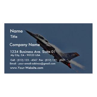 Aeroplanos de los combatientes de jets de los F-16 Tarjetas De Visita