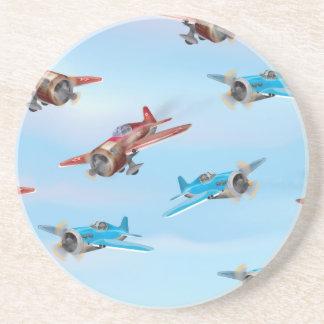 Aeroplanos del juguete posavasos diseño