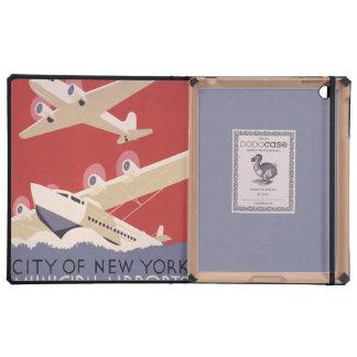 Aeroplanos del vintage de WPA New York City del vi iPad Cobertura