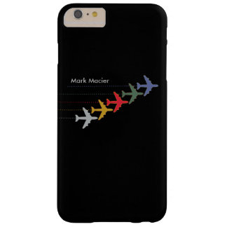 aeroplanos personalizados del color funda para iPhone 6 plus barely there
