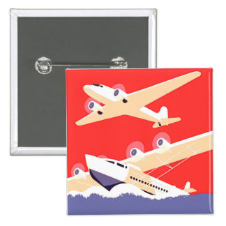 Aeroplanos que vuelan los aviones de propulsor del pins