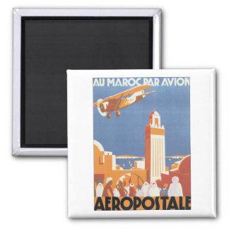Aeropostale Au Maroc Par Avion Fridge Magnet