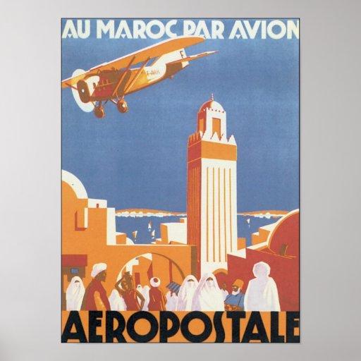 Aeropostale Au Maroc Par Avion Poster