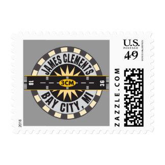 Aeropuerto Bay City MI los 3CM de James Clements Sellos Postales