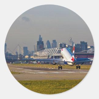 Aeropuerto de la ciudad de Londres Pegatina Redonda