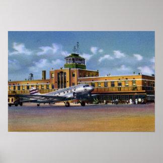 Aeropuerto del Municipal de Kansas City Missouri Póster