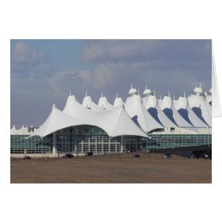 Aeropuerto internacional Buildin terminal principa Tarjeta De Felicitación