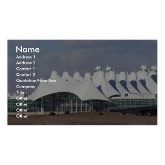 Aeropuerto internacional Buildin terminal principa Tarjetas De Visita