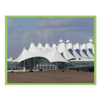 Aeropuerto internacional Buildin terminal principa Tarjeta Postal