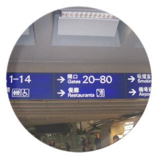 Aeropuerto internacional de Hong Kong Platos Para Fiestas