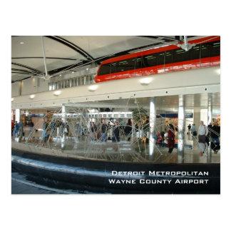 Aeropuerto metropolitano del país de Detroit Wayne Tarjetas Postales
