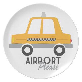 Aeropuerto por favor platos