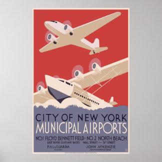 Aeropuertos del Municipal de la ciudad de Nueva Yo Impresiones
