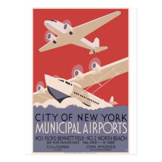 Aeropuertos del Municipal de New York City Postal