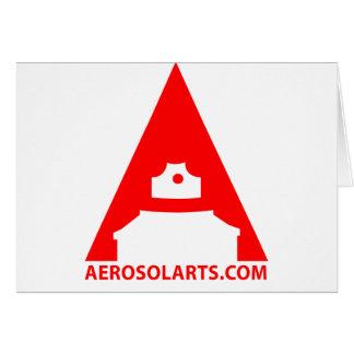 """Aerosol Art """"A"""" Icon Greeting Card"""