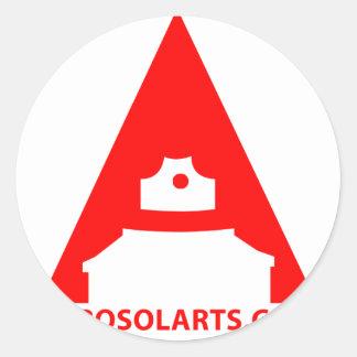 """Aerosol Art """"A"""" Icon Classic Round Sticker"""
