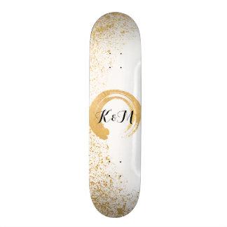 Aerosol de la hoja de oro tablas de skate