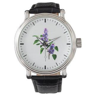 Aerosol de lilas relojes