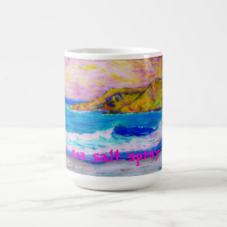 aerosol de sal del mar tazas