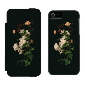Aerosol del vintage de flores en negro funda billetera para iPhone 5 watson