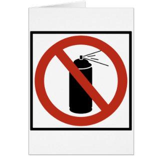 Aerosol Spray Prohibition Highway Sign Greeting Card