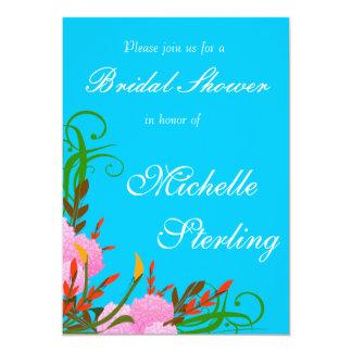 """Aerosoles florales de la primavera bonita contra invitación 5"""" x 7"""""""