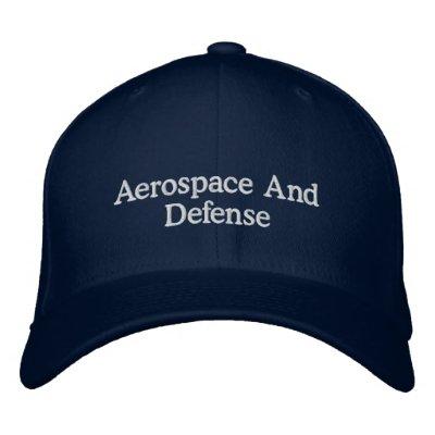 Aerospace and defense embroidered baseball caps