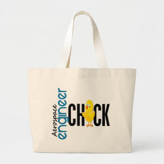 Aerospace Engineer Chick Large Tote Bag
