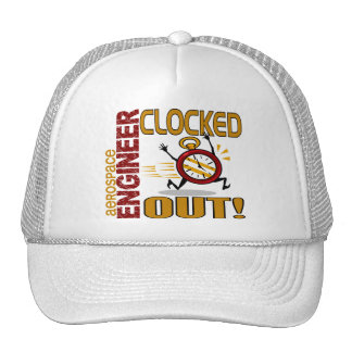 Aerospace Engineer Clocked Out Trucker Hat