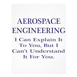 Aerospace Engineer Joke .. Explain Not Understand Letterhead Design