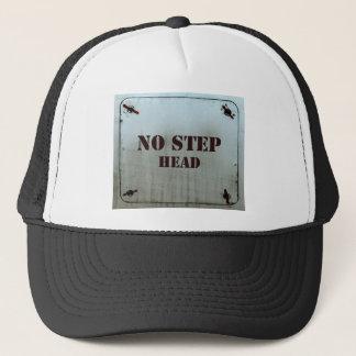 Aerospace warning sign NO STEP Trucker Hat