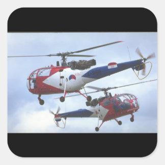 Aerospatiale SA Alouette_Aviation Photography II Square Sticker