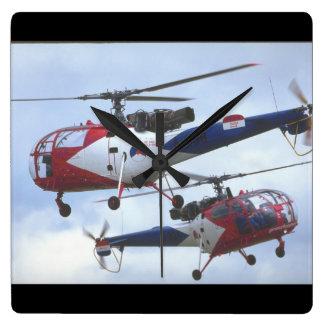 Aerospatiale SA Alouette_Aviation Photography II Square Wall Clock