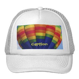Aerostación del aire caliente del arco iris gorra