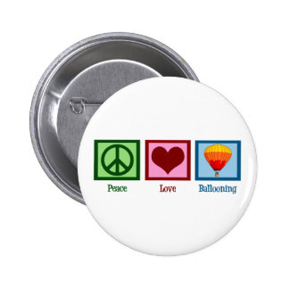 Aerostación del amor de la paz pin redondo 5 cm