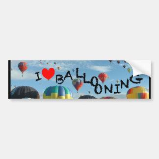 aerostación del amor del globo i pegatina para auto