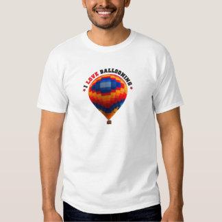 Aerostación del globo del aire caliente playeras