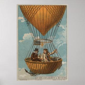 Aerostación en 4000 metros - 1804 póster