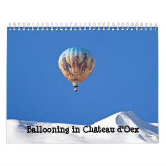 Aerostación en el d'Oex de Château Calendarios