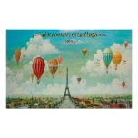 Aerostación sobre el poster de París