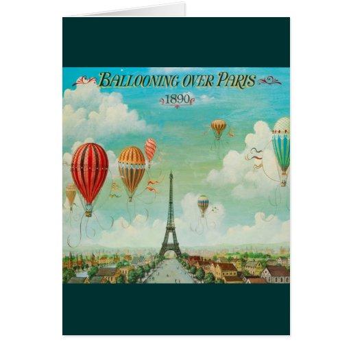 Aerostación sobre París Tarjeta De Felicitación