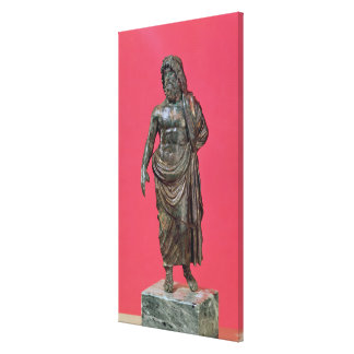 Aesculapius, from Neuvy-en-Sullias Stretched Canvas Print