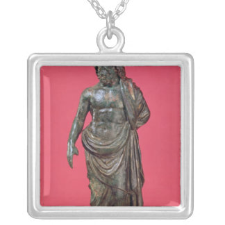 Aesculapius, from Neuvy-en-Sullias Silver Plated Necklace
