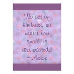 Aesop Kindness Quote Poster