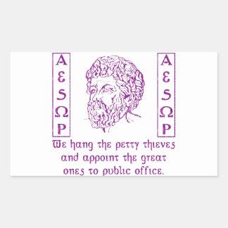 Aesop Rectangular Sticker
