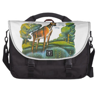 Aesop s fables the deer and his reflection bag for laptop