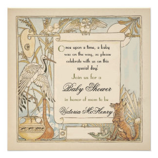 Aesop s Storybook Baby Shower Invitations